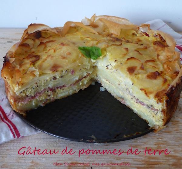 Gâteau de Pommes de Terre, Comté et Jambon Forêt Noire