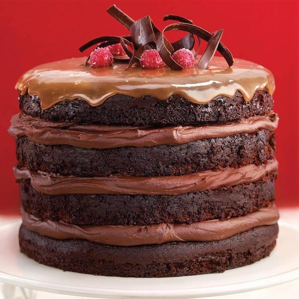 Gâteau Étagé au Chocolat et au Caramel