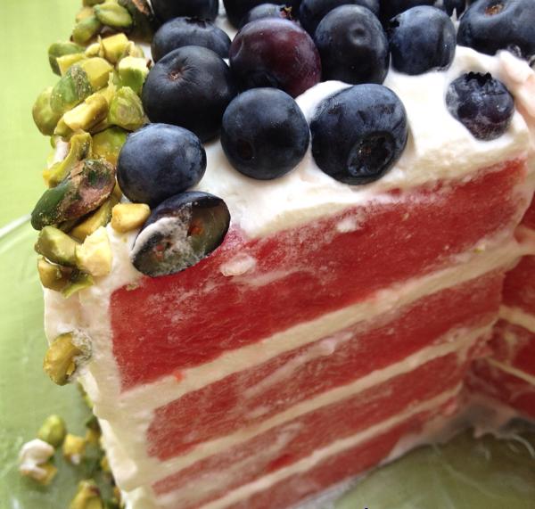 Gâteau-Surprise au Melon D'eau