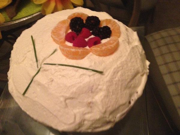 Gâteau Vanille et Crème Fouettée