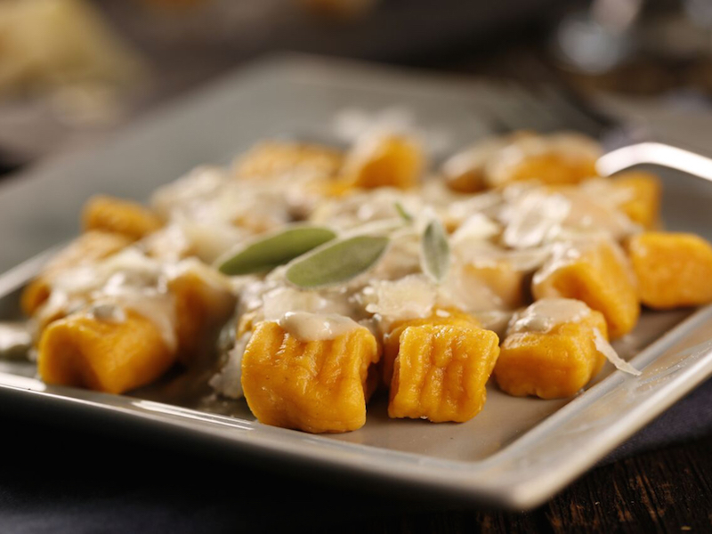 Gnocchis aux Patates Douces avec Sauce Crémeuse à la Sauge