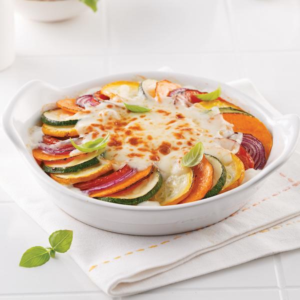 Gratin de Légumes à la Crème de Tofu et Fromage de Chèvre