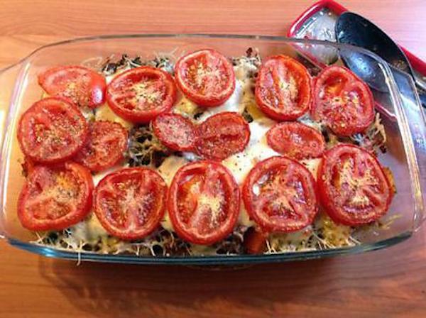 Gratin de Légumes D'été et Viande Hachée