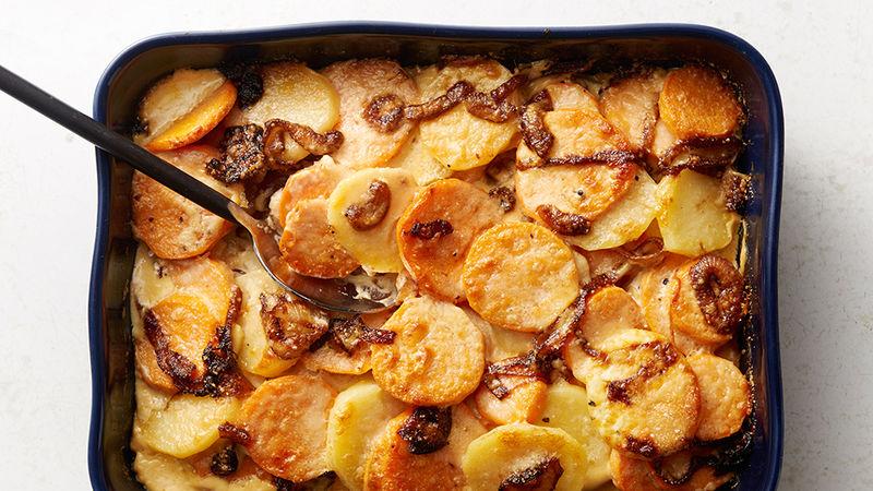 Photo Recette Gratin de Patates Douces et D'oignons Caramélisés