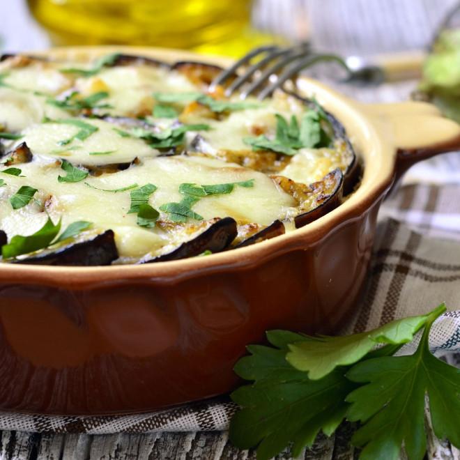 Photo Recette Gratin Fondant D'aubergines au Chèvre