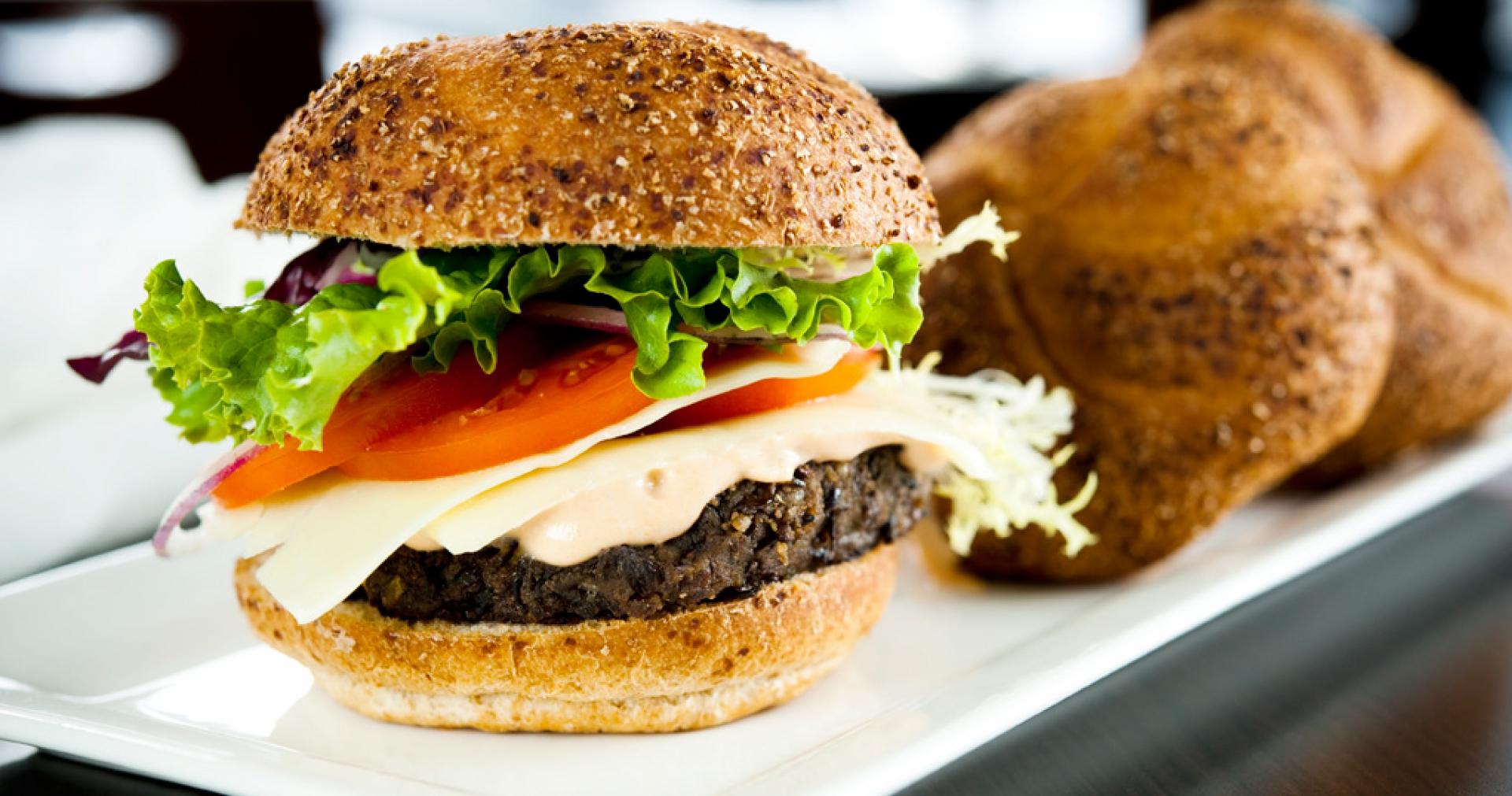 Photo Recette Hamburger Végétarien et Fromage Tranché