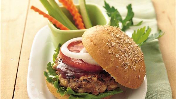 Photo Recette Hamburgers au Boeuf et aux Haricots Grillés sur le Barbecue