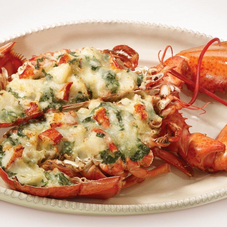 Recette homard gratin au oka classique circulaire en ligne - Accompagnement homard grille ...