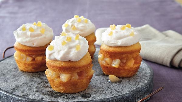Petits Gâteaux à la Poire et à la Crème au Miel