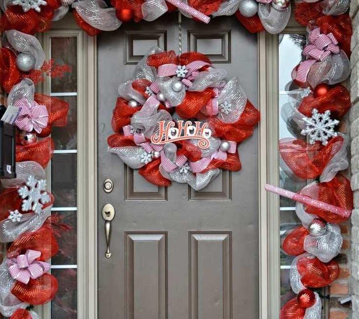 Idées De Couronne De Noël à Faire Soi Même En Maille Décorative