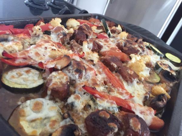Saucisse Italienne et Légumes au Four