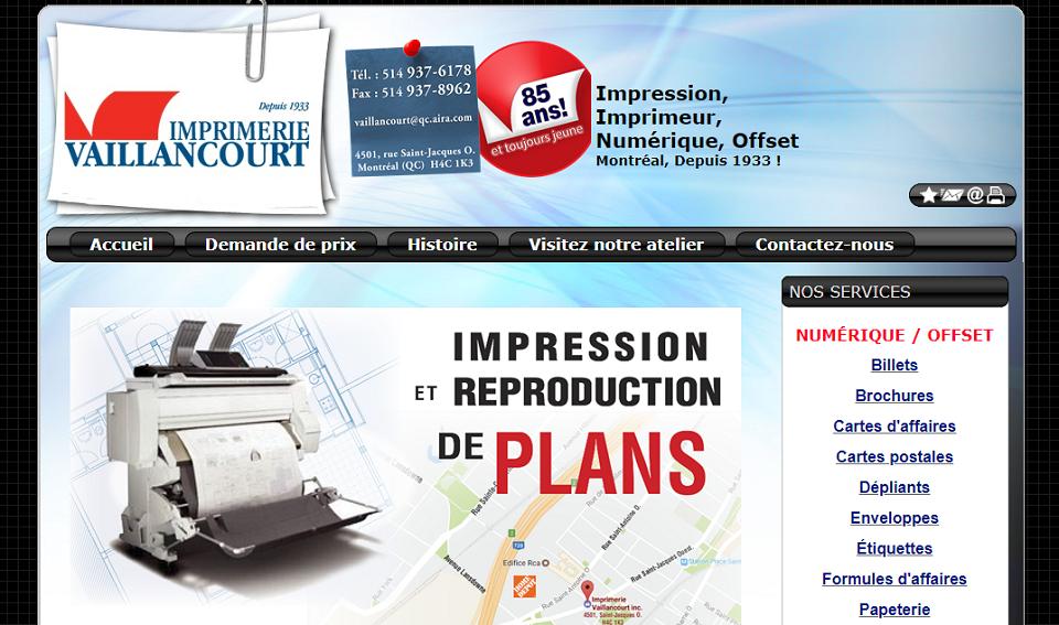 Imprimerie Vaillancourt en Ligne