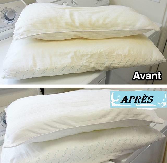 la meilleure m thode pour laver et blanchir un oreiller jauni circulaire en ligne. Black Bedroom Furniture Sets. Home Design Ideas