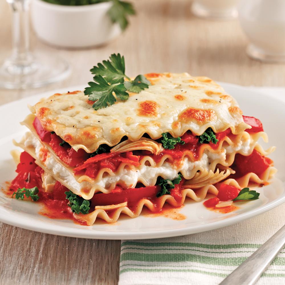 Photo Recette Lasagne au Chou Kale et Artichauts à la Mijoteuse