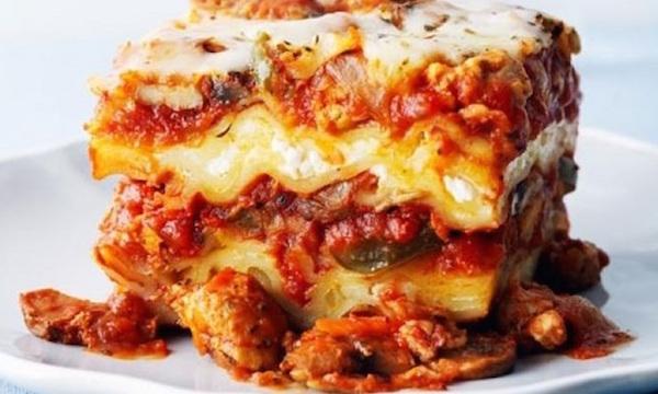 Lasagne au Poulet et aux Légumes