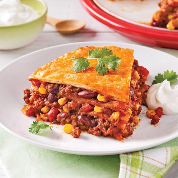 Photo Recette Lasagne Mexicaine Végétarienne
