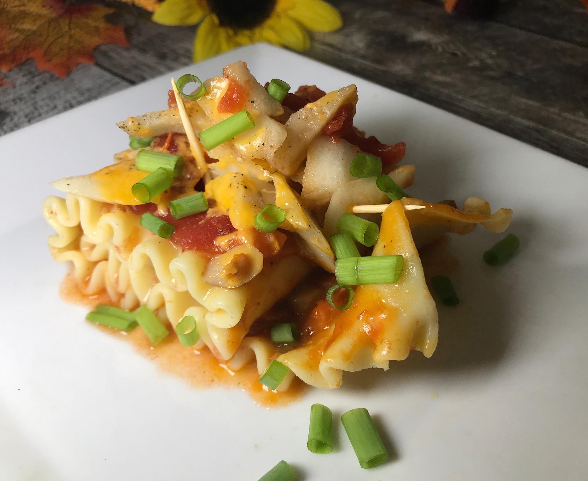 Photo Recette Lasagne Roulée farcie de Légumes, Fromage et une Sauce aux Pommes