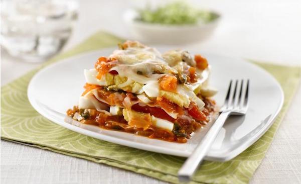 Lasagne Won-ton aux œufs