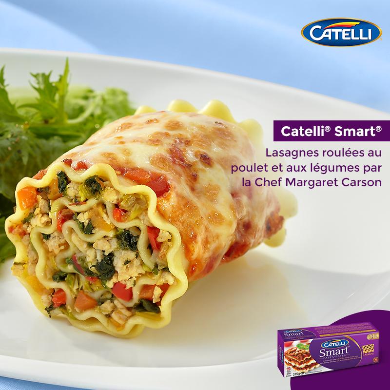 Lasagnes Roulées au Poulet et aux Légumes par la Chef Margaret Carson