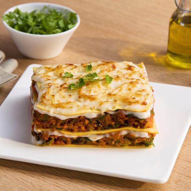 Lasagnes Végétales aux Poireaux Tomates et Soja