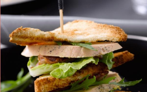 Le Club sandwich Foie Gras et Magret