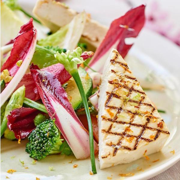 """Légumes """"O"""" wok, Tofu Mariné Grillé"""