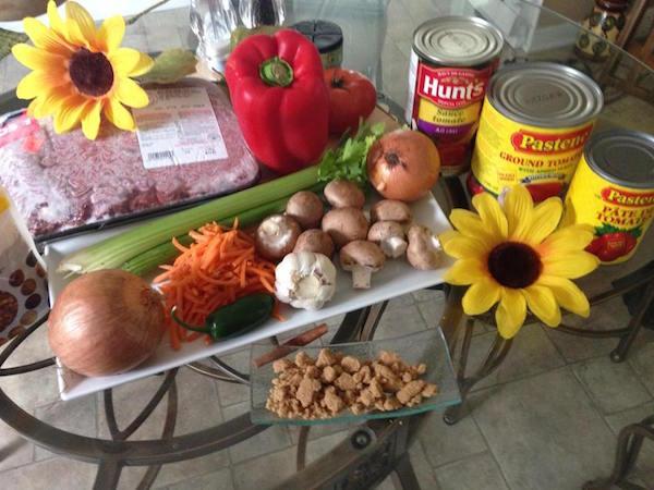 Les ingrédients pour la sauce épicée