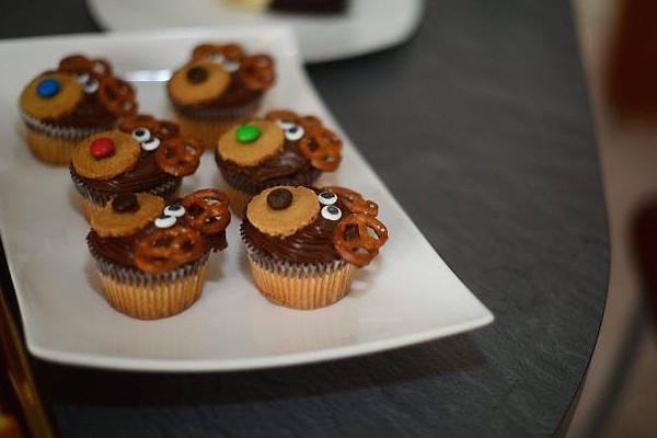 Les Rennes du Père Noël en Cupcake
