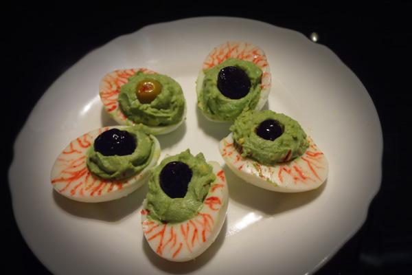 Photo Recette Entrée d'Halloween : Les Yeux Injectés de Sang