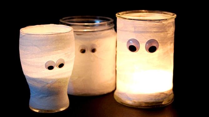 Truc Déco pour L'Halloween : Les Momies Lanternes