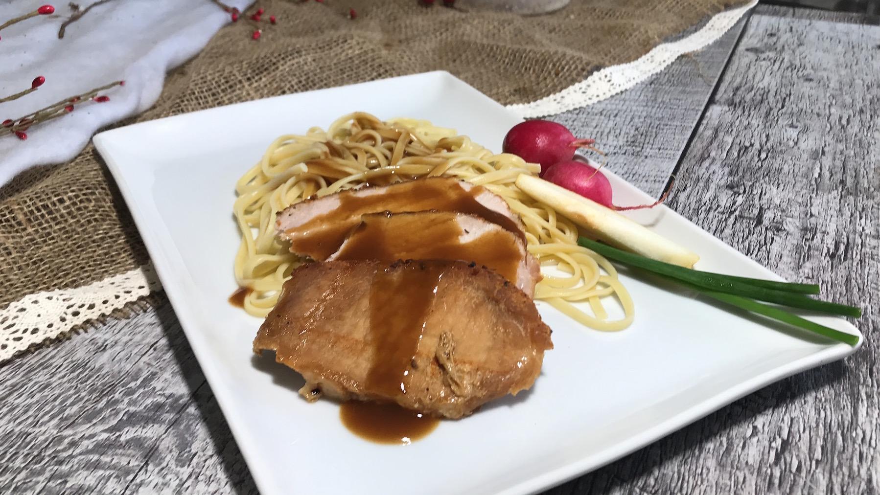 Photo Recette Linguine Sauce Glacée et son Porc