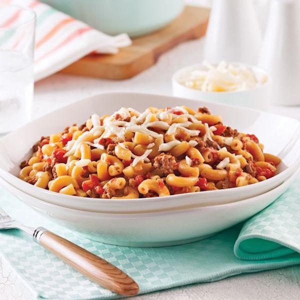 Macaroni à la Viande dans une Seule Casserole