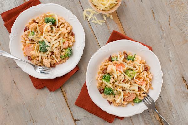 Macaroni aux Légumes Crémeux et Colorés