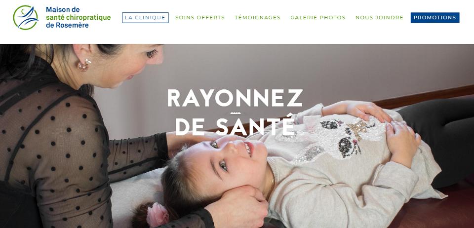 Maison de Santé Chiropratique de Rosemère en Ligne