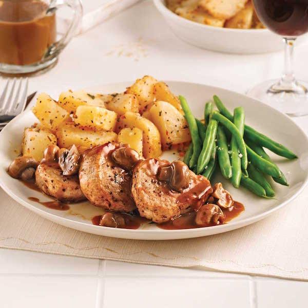 Photo Recette Médaillons de Porc, Sauce Champignons, Marsala et Poivre