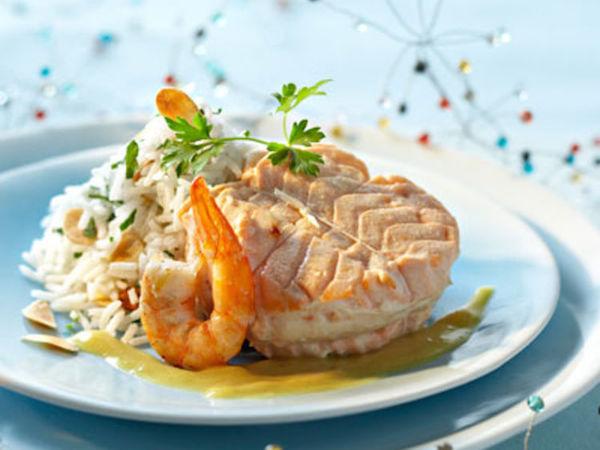 Photo Recette Médaillons de Saumon Farcis aux Crevettes