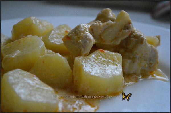 Photo Recette Mijoté de Dinde au Lait de Coco et ses Pommes de Terre
