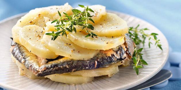 Mille-Feuille de Pommes de Terre et Sardines