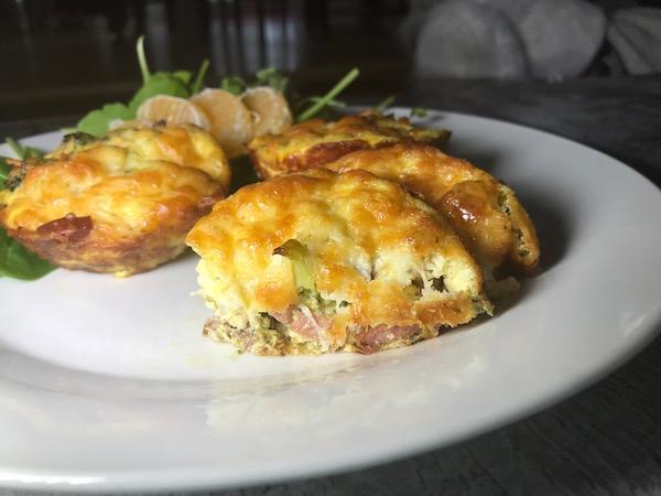 Mini-Omelette au Brocoli Bacon et Saucisse 2