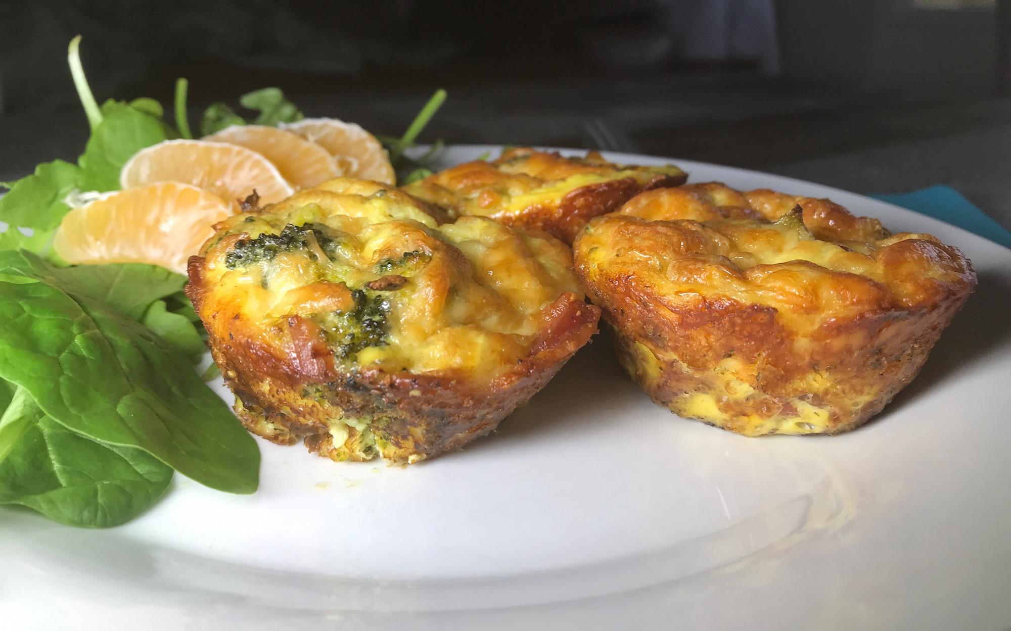Photo Recette Mini-Omelette au Brocoli Bacon et Saucisse