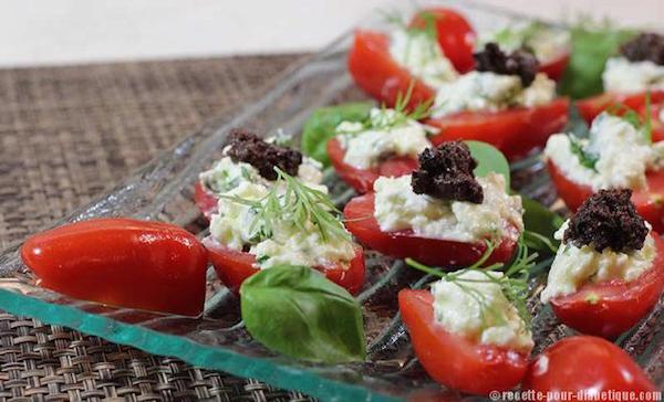 Mini Tomates Mozzarella  ( Cuisine & Diabète )