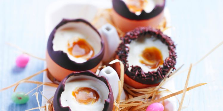 Mousse de Pâques au Chocolat Blanc et Caramel