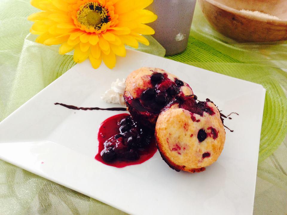 Muffin aux Bleuets avec Coulis