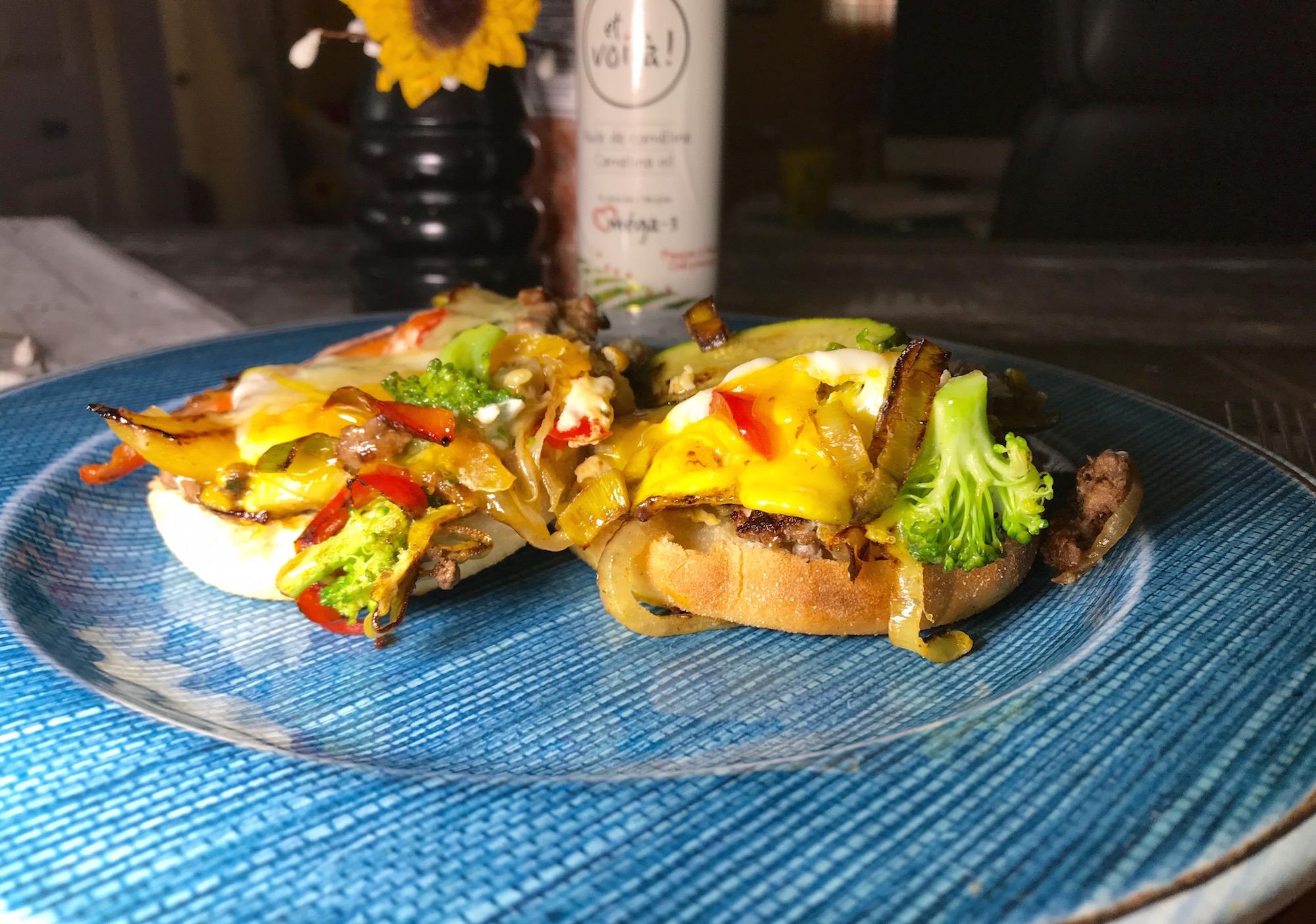 Photo Recette Muffin Anglais Oeufs Viande et Légumes
