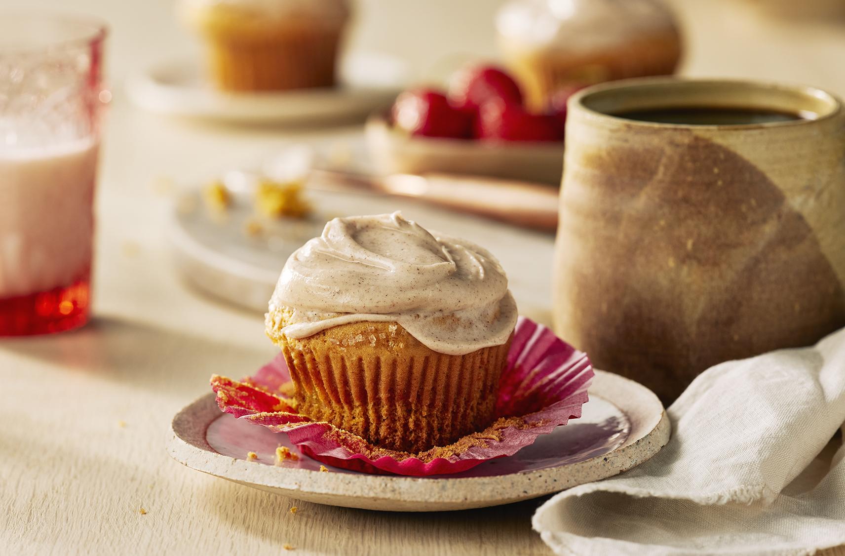 Photo Recette Muffins à la Citrouille et aux Épices avec Tartinade au Fromage à la Crème à L'érable