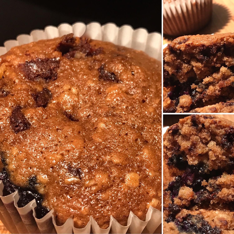Photo Recette Muffins à L'avoine, Bleuets et Chocolat
