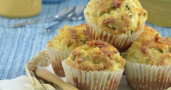 Muffins au Fromage et Bacon Fumé