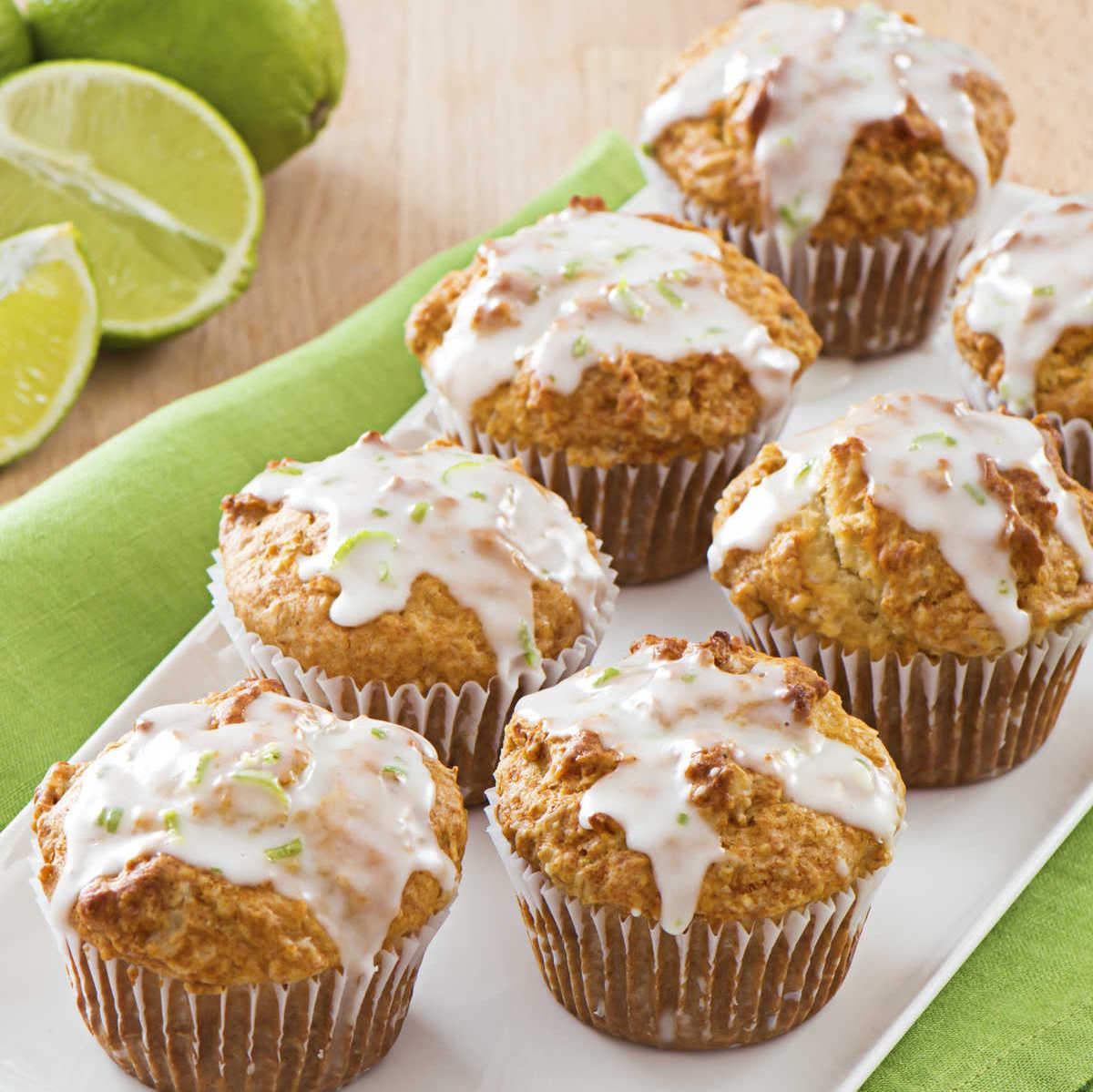 Muffins au Gruau Miel-lime