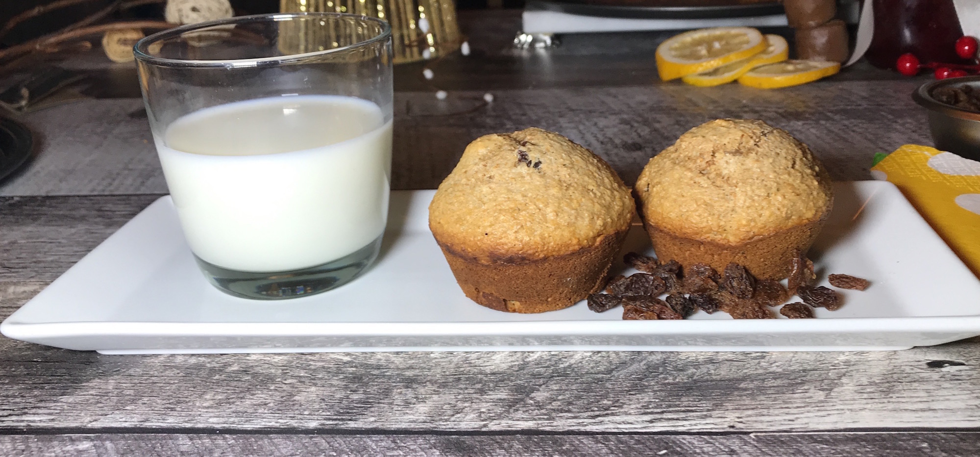 Muffins au Son D'avoine et Raisins Secs