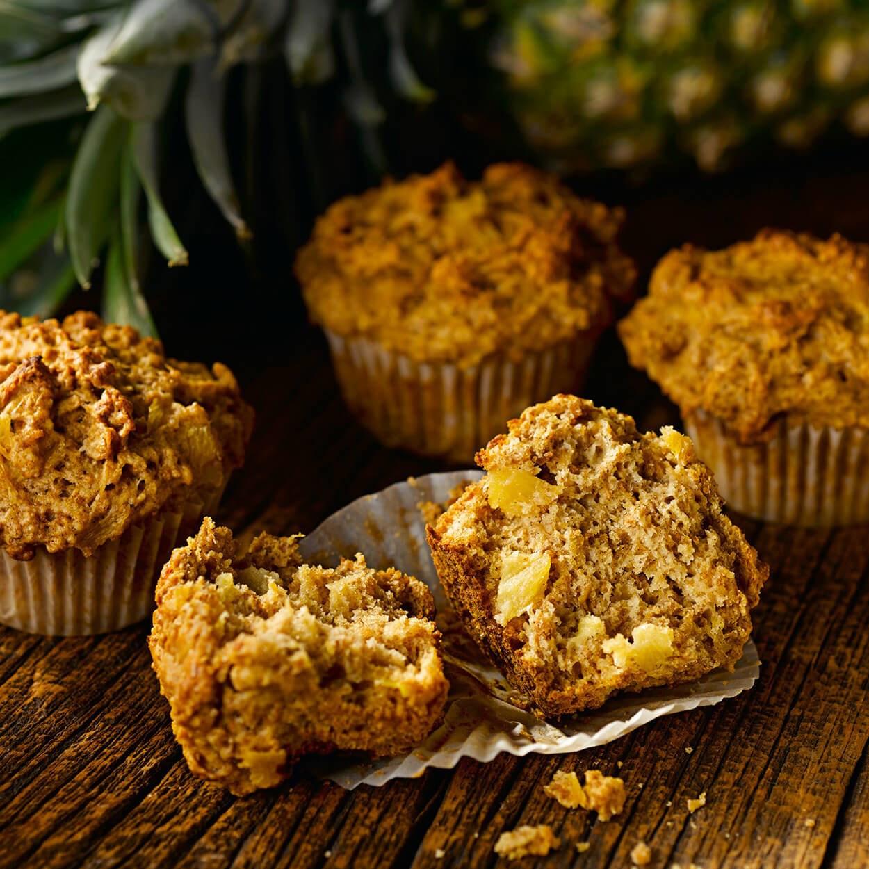 Muffins au Son et à L'ananas